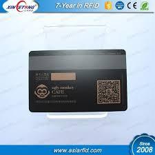 gift card manufacturers matte black qr code 2750oe hico mag stripe pvc card for vip