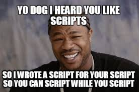 Meme Generator Script - meme faces yo dog i heard you like scripts so i wrote a script for