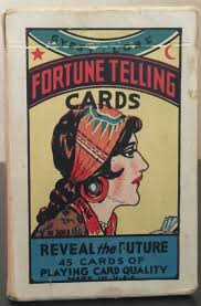 antique vintage gypsy lore fortune telling cards tarot deck