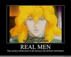 Real Men Meme - real men anime meme com