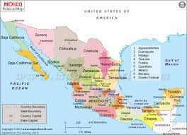 map of mexuco map of mexico showing states major tourist attractions maps