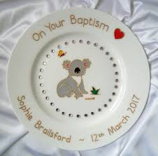 birth plate keepsake sparkly koala baby gift australian baby date of birth plate