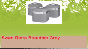 retro canisters kitchen swan kitchen accessories grey retro set bread bin breadbin 3