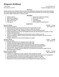Correctional Officer Resume Examples by Impressive Security Guard Resume Examples 10 Best Professional