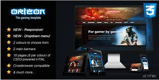 24 best gaming html website templates 2017