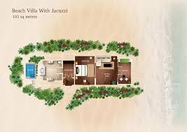 Beach Bungalow Floor Plans Beach Villa Maldives Kurumba Maldives Jacuzzi Beach Villa