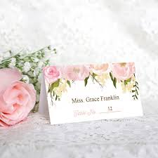 wedding place cards pink floral diy printable wedding place