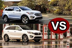 hyundai crossover 2016 blog compare the 2016 kia sorento vs the hyundai santa fe in