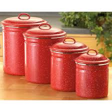 4 pc enamel canister set red 171524 cookware u0026 utensils at