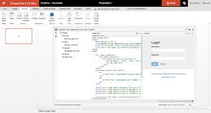 editable html css and javascript within powerpoint presentation