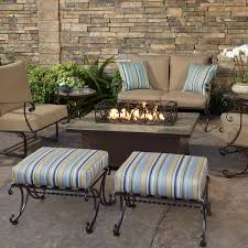 Fire Pit Rectangle Ow Lee Casual Fireside Santorini 30 X 50 Rectangle Occasional Height