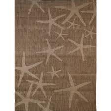 Outdoor Rug Lowes by Shop Balta Star Fish Chestnut And Grain Rectangular Indoor Outdoor