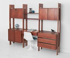 credenza unit vintage modular teak wall unit mid century modern shelving
