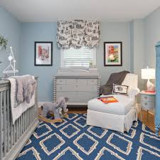 light blue walls are a classic touch to this baby boy u0027s nursery a