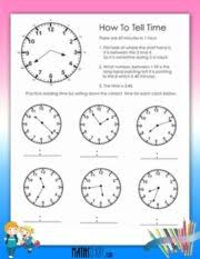 time u2013 grade 2 math worksheets