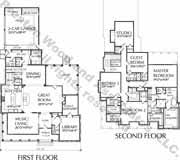 2 Story Modern House Plans Story House Plan D7155