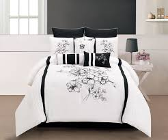 bedroom amazing black and white bedding set with black and