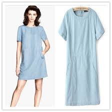 light blue short sleeve dress ivo hoogveld