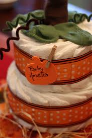 pumpkin diaper cakes diaper cakes pinterest diapers cake