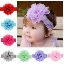 lace headbands infant lace headbands baby girl chiffon flower headband children