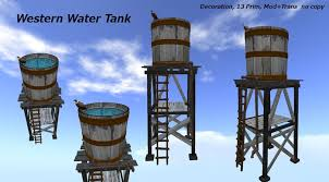 Decorative Water Tanks Second Life Marketplace Western Water Tank