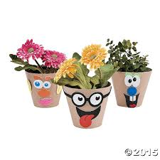 silly face flowerpot craft kit 12 pk party supplies canada open