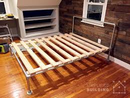 Diy Bed Frames 47 Diy Bed Frame Ideas Built With Pipe Simplified Building