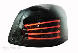 vios black smoke rear led tail light lamp toyota vios yaris belta 4dr