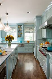blue kitchen blue kitchen cabinets will show awesome look home design studio