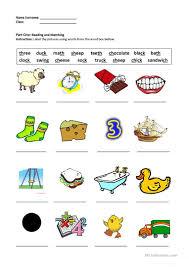 digraphs sh ch th ck ng worksheet free esl printable worksheets