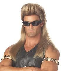 amazon com california costumes men u0027s bail enforcer wig multi one