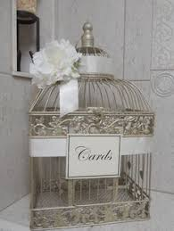 wedding gift holder birdcage wedding card box chagne birdcage pearls bird