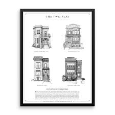 Home Styles Chicago Greystone Bungalow Cottage Two Flat In Pen And Ink
