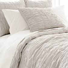 bedroom lovely pine cone hill ruched cover in white and gray for