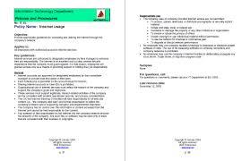 it policies u0026 procedures it manager institute