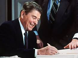 ronald reagan haircut handwritten letter and check signed by ronald reagan he sent to 11