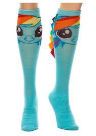 Rainbow Dash Halloween Costume Rainbow Dash Ribbon Mane Knee Socks Halloween Costume