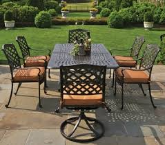 6 Seat Patio Dining Set Berkshire By Hanamint 6 Person Luxury Cast Aluminum Patio