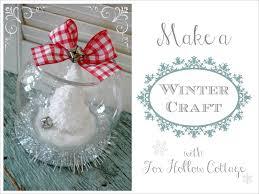 dollar tree christmas snow globe tutorial fox hollow cottage