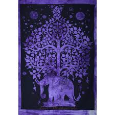 poster tree of life tie dyed purple color small size wall decor poster tree of life tie dyed navy purple color small size wall decor sticker cotton tapestry