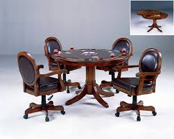 Poker Table Chairs With Casters by Amazon Com Hillsdale Warrington 5 Piece Game Set Kitchen U0026 Dining
