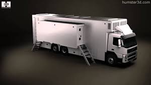 volvo 2010 truck volvo fm outside broadcast truck 2010 by 3d model store humster3d