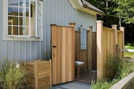 How To Build An Outdoor Shower Enclosure - building an outdoor shower stall shower remodel