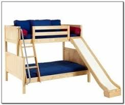 twin over full bunk bed with slide foter