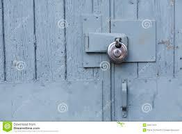 barn door look locks on a barn stock images image 34977874