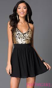 short formal dresses black and gold boutique prom dresses