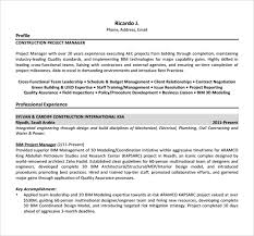 Pmo Cv Resume Sample by Project Manager Resume U2013 9 Samples Examples Format