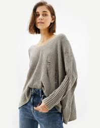 bershka si e social chenille sweater with rips knitwear bershka republic