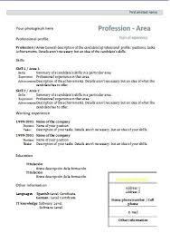 Spanish Resume Samples by Cv Formats And Templates Resume Templates
