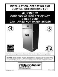 alpine boiler manual boiler water heating